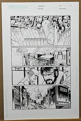 Meridian Issue 30 Page 11 ORIGINAL COMIC ART by Steve McNiven (Civil War)
