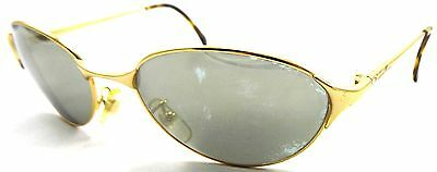 Vintage Calvin Klein CK 237S 502 Mirrored Gold Sunglasses Oval 1990s ITALY