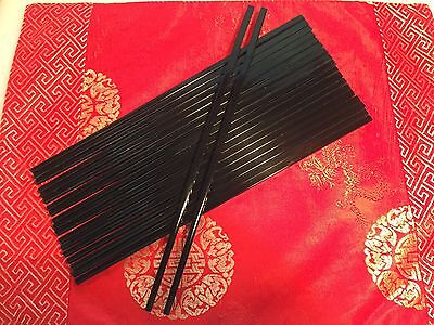 Black Melamine Chopsticks X 10 Pairs, Free Post