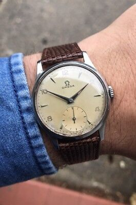 Omega Stainless Steel Men's Vintage Wristwatch Cal. 265