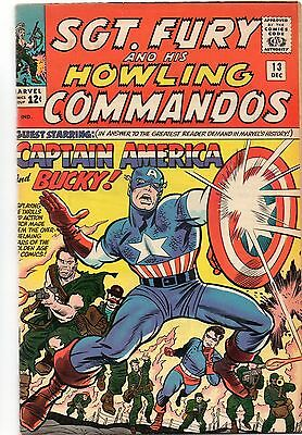 Sgt Fury and his Howling Commandos 14 - Dec 1964. 2nd solo Captain America. VFN+