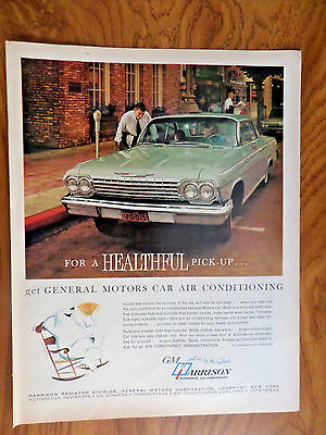 1962 GM Harrison Automotive Air Conditioning Ad  Chevrolet Chevy Imapla  Bel Air