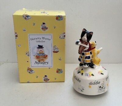 Aynsley Nursery Rhyme Collection Cat & Fiddle Musical Ornament