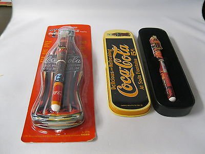 Two Coca-Cola   Ceramic Roller Pens In Collector Tins