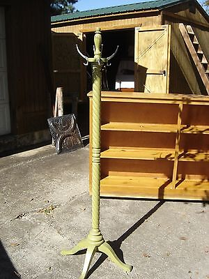 Antique Barber's Revolving Coat Hat Rack . 7838