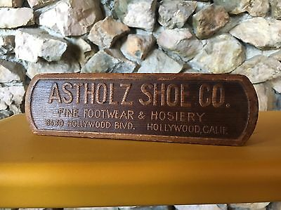 Astholz Shoe Co. Advertising Brush Hollywood Ca Los Angeles Vintage