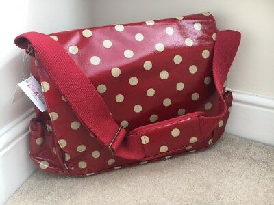 CATH KIDSTON  Luxury Nappy/Changing/Diaper Bag  Cranberry Red Spot  BNWT