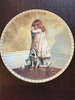 """Decorative Royal Dalton Plate """"In Disgrace"""" from painting by Charles Burton Barb"""