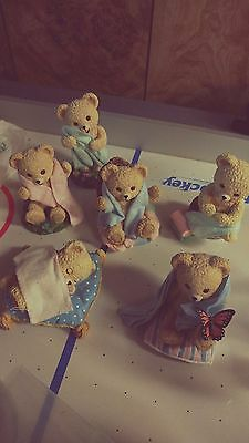 Snuggle Bear Collection 1998 Lever Brothers Co. Set Of 6 The Hamilton Collection