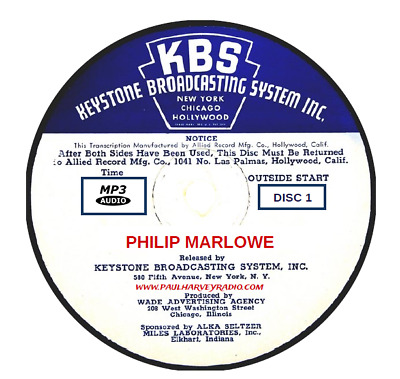 Philip Marlowe (106 Shows) Old Time Radio Mp3 2-Cd's
