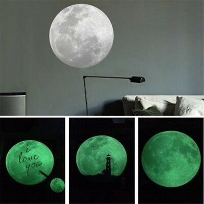 Luminous Moon Glow In The Dark Wall Aufkleber Moonlight Home Decor DIY Raum Wand