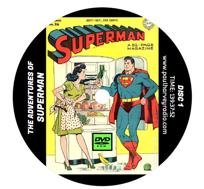 Superman (1,171 Shows) Old Time Radio Mp3 2 Dvd's