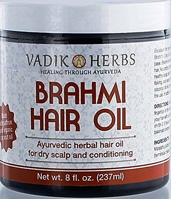 Brahmi Hair Oil (8 oz) | all natural herbal hair oil for hair growth, hair co...
