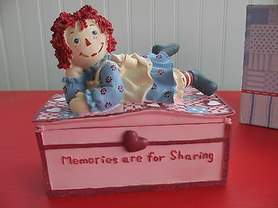 Raggedy Ann Music & Jewelry Box Plays Fur Elise by Russ new