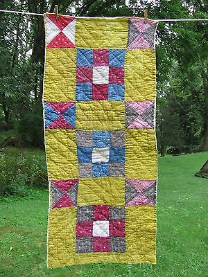 Nine Patch ~ Hand Quilted Cutter Piece