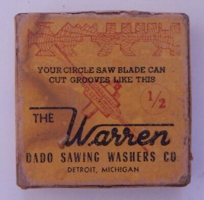 """The Warren Dado Sawing Washers Co. 1/2"""" Bore with Box and Paperwork R14262"""