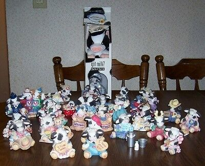 Enesco Mary's Moo Moos lot of 27 figurines 4 minis w Boxes VGUC