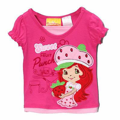 Strawberry Shortcake Toddler Girls Applique Character Tee Shirt Size 2t 3t 5 nwt