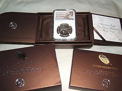 2015 W $100 proof Platinum Eagle NGC PF70 Early Releases w/ US Mint box and COA
