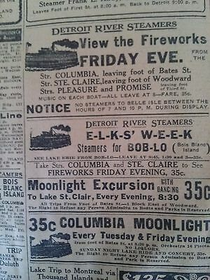 July 14, 1910 Newspaper Page #4527- Steamer Tashmoo, White Star Line + Aviation