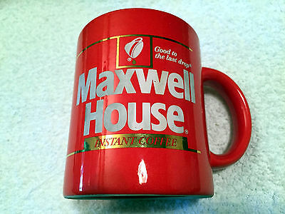 MAXWELL HOUSE Red Coffee Cup - Good to the Last Drop - VERY NICE USED CONDITION