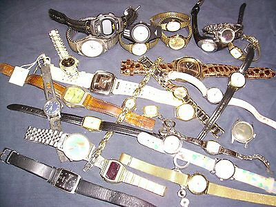 Nice Lot of Mixed Untested Watches for Parts, Repair, Resale or Wear