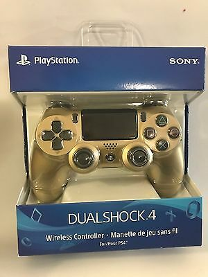 New Official  Sony PS4 DualShock Wireless Controller - Gold - 2G (Sony)