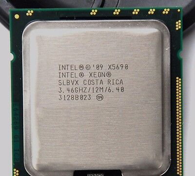 MATCHED PAIR Intel Xeon X5690 SLBVX 3.46GHz  HEX 12MB 6 Core CPU PROCESSOR