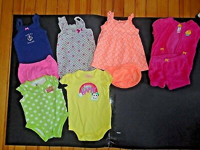 49748b45817 Infant Girls Baby Clothes Lot Summer Size 3 Months 6 Outfits Very Cute  (Group 5