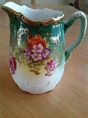 "Vtg Hand-Painted Porcelain ""three Crowns"" Creamer - Made In Germany"