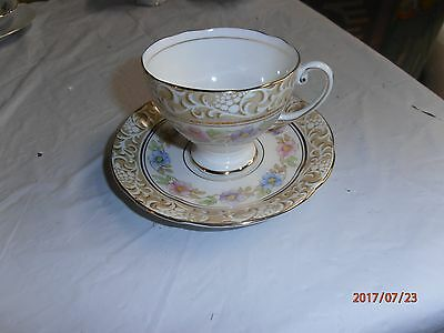 Beautiful Vintage Cup and Saucer, Grecian Royal Standard