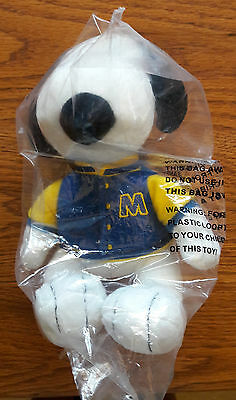 Collectible Peanuts Plush 2011 MET LIFE SNOOPY LETTERMAN - new in package