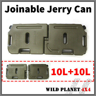 20L Jerry Can Joinable Fuel Container Spare 4X4 4WD Container Heavy Duty