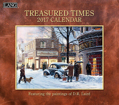 Treasured Times 2017 Wall Calendar by Lang; D.R. Laird Art (13-3/8 x 24 open)