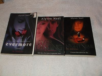 Lot of 3 Trade Paperbacks from the Immortals Series by Alyson Noel