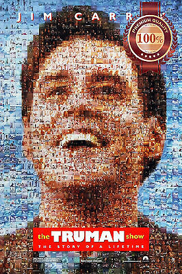 New The Trueman Show Jim Carrey Movie Home Decor Original Print Premium Poster