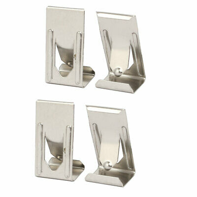 26mmx14mm Picture Photo Frame Metal Spring Turn Clip Hanger Siver Tone 4pcs
