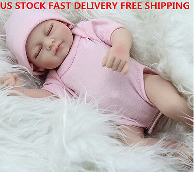 "US 11"" Handmade Real-Look Vinyl Silicone Newborn Baby Girl Reborn Doll Gift"