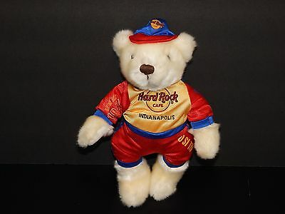 2009 Indianapolis Hard Rock Cafe Racer Bear Plush 11 Inches Tall