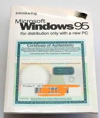 Original System Software - Microsoft Windows 95 With Floppy Boot Disk