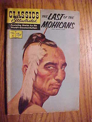 Classics Illustrated #4 The Last Of The Mohicans   (Hrn 135) Vg  Condition