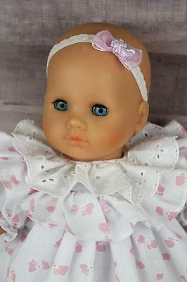 """Zapf Creation Baby Girl Doll 17"""" 1988 West Germany Dressed with shoes Blue Eyes"""