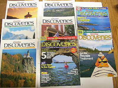 Lot Of 8  Country Discoverys  Magazines