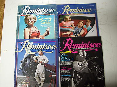 Lot Of 4   Remiminisce  Magazines