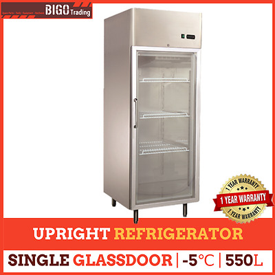One Glass Door 550L BIG Commercial Upright Stainless Steel FRIDGE REFRIGERATOR
