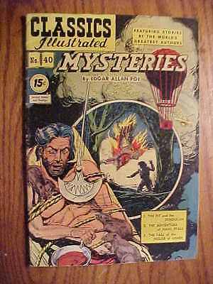Classics Illustrated #40  Mysteries  (Hrn 75) Vg Condition