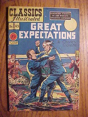 Classics Illustrated #43 Great Expectations   (Original) Vg-  Condition