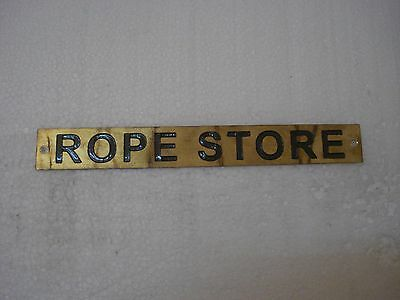 ROPE STORE – Marine BRASS Door Sign -  Boat/Nautical - 8 x 1 Inches (287)
