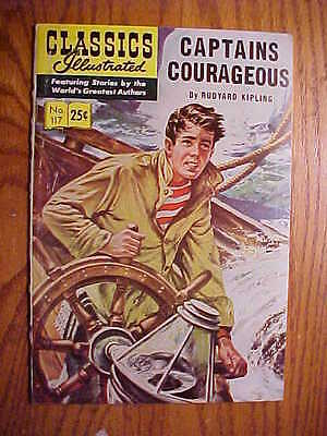 Classics Illustrated  #117 Captains Courageous   (Hrn 169)    Vg Condition