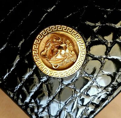 Gianni Versace 18K Gold Medusa Crocodile Precious Wallet pre death Limited NWB